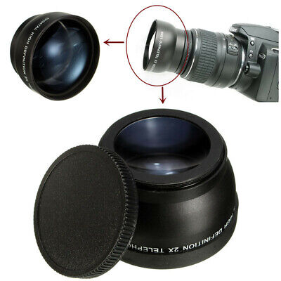 [NEW] 58mm 2x Magnification Telephoto Lens for Canon Eos Nikon Pentax DSLR Camer