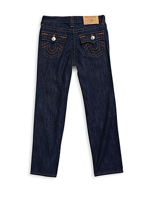 True Religion Boy's Straight Leg Solid Jeans Y9 Rinse NEW 4 5 6 7