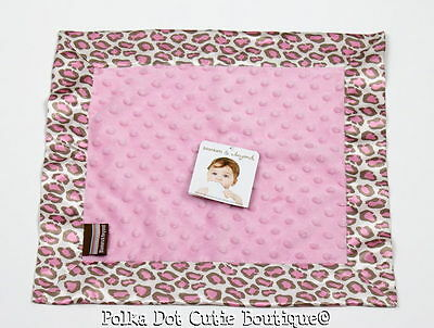 NWT Blankets & Beyond Pink Minky Dot Animal Print Baby Security Blanket