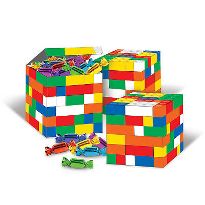3 ct LEGO Building Blocks Birthday Party Goodie Bag Favor Boxes