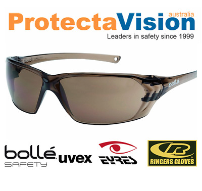 2x Pairs Bolle - Prism - Safety Glasses Bronze Lens Sunglasses