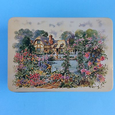 SMALL TIN ENGLISH COUNTRY COTTAGE GARDEN FLOWERS ANIMALS Treasures Collectibles