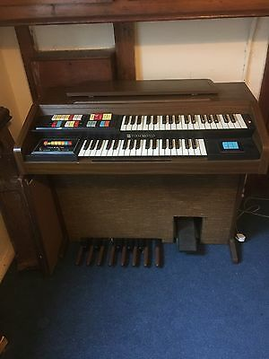 Hammond Organ Model 123J3.  2 Manual Ex Church Use. Good Working Order