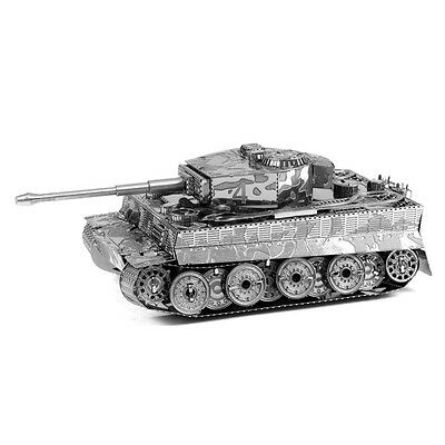 Chic 3D Army Tiger Tank Solid Puzzle Metal Micro Model Toys for Kids Exquisite