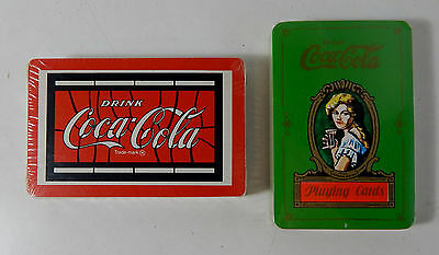 2 Decks of Coca Cola Playing Cards UNOPENED Age Unkown