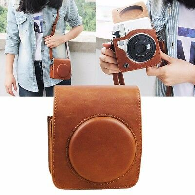 [NEW] Brown PU Leather Shoulder Strap Case Bag For Fujifilm Instax Mini 70 Camer