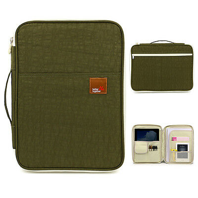 A4 Document Bags Portfolio Organizer Waterproof File Folder Bag Green