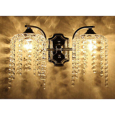 Crystal Wall Light Fixture Sconce Chandelier Vintage Wall Lamps Ornate Cast Iron