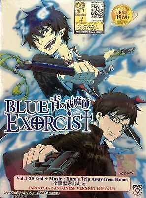 DVD Anime Blue Exorcist 1-25 End + Movie Kuro's Trip Away From Home English Sub