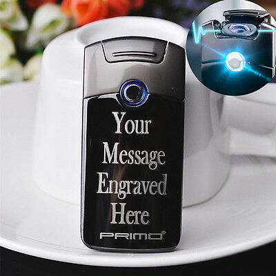 Personalised Primo Lighter USB Electric Arc Pulse Rechargeable Engraved Gift