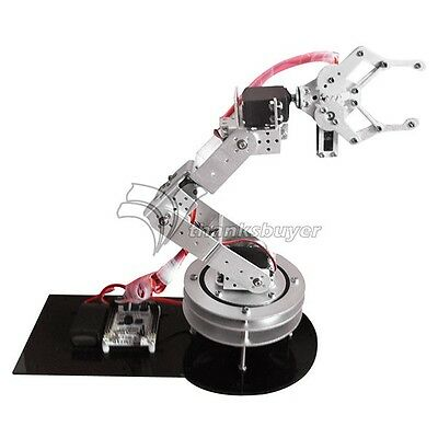6DOF Robotic Robot Arm Clamp Claw & Swivel Rotatable Stand Mount Kit Arduino US