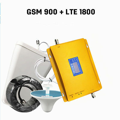 900/1800MHz Dual Band GSM DCS Cell Phone Signal Booster Repeater Amplifier Kit