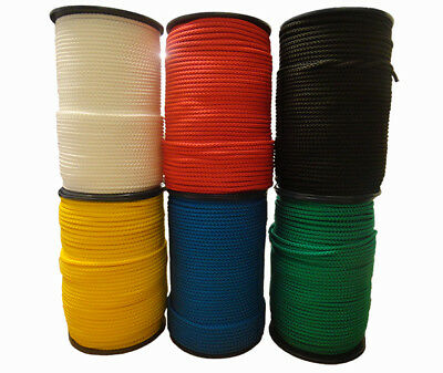 Braided Polypropylene Cord Colourline Paracord Drawstring Craft Strong Camping