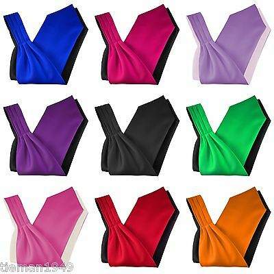 Italian Satin 'Under the Shirt' Ascot Cravat Tie Wedding