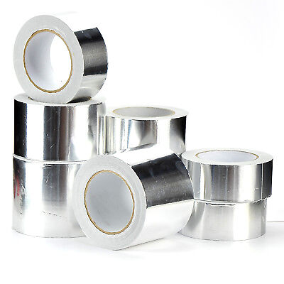 ALUMINIUM FOIL TAPE 50MM/72MM/95MM x50M SELF ADHESIVE INSULATION REFLECTIVE DUCT