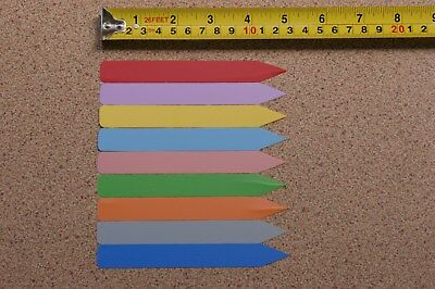 COLOURED Flexible Plastic Plant Labels 125mm pack 50. Perfect for Orchids, Seed