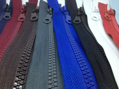 Open End Chunky Plastic Teeth Zips/variety Of Colours/lengths Buy 1 Get 1 Free