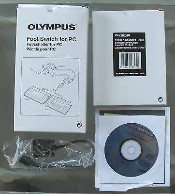 Olympus RS23 Trans. foot pedal w/ USB & RS-232 connectors, headset, working pull