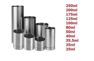 Stainless Steel Alcohol, Spirit, Wine Measure, Thimble, CE certified, Made in EU