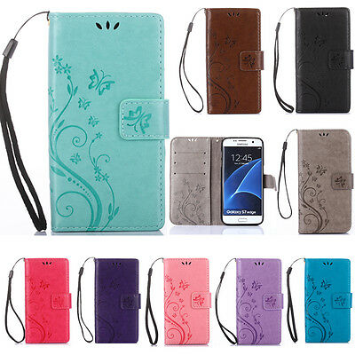 Flip Patterned PU Leather Lot Card Pocket Strap Stand Case TPU Cover Bumper GY