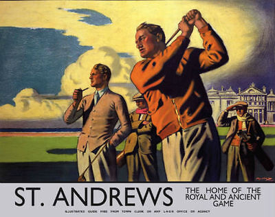 St. Andrews Fife Scotland Scottish Golf Course Poster Metal Plaque Tin Sign 406