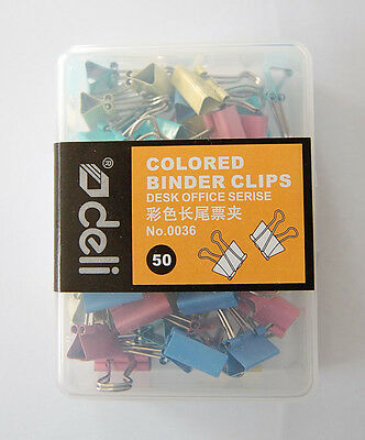 25pcs Brand New deli Colour Metal Binder Clips