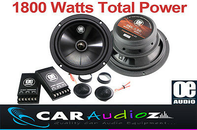 "6.5"" 17cm 2-Way CAR AUDIO COMPONENT SPEAKERS PAIR DOOR 1800 Watts Total Power"
