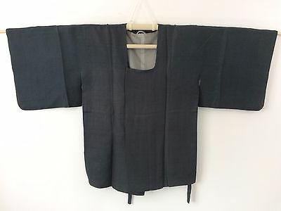 Authentic Japanese grey silk michiyuki jacket for Kimono, Japan import (G1111)