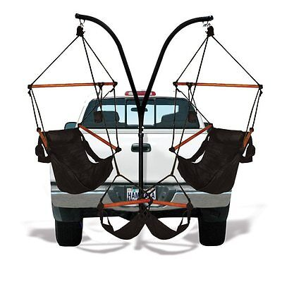 Hammock Chair Tailgate Trailer Hitch Camping Chairs Party Portable Dual Stand