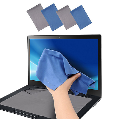 Large 4-Pack Microfiber Cleaning Cloth For Camera, Lens, Eyeglass, Glass, Phone,