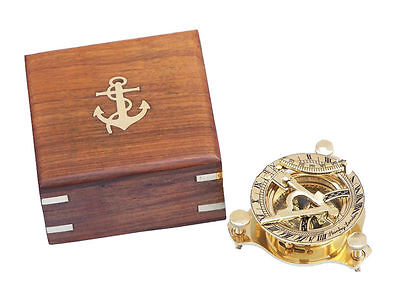 "Brass Sundial compass 3"" Nautical Gift  USA Seller!!!"