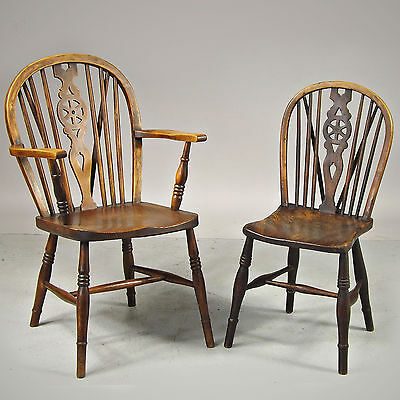 Antique Windsor Chair - Wheelback, Elm Seat, C1860 (delivery £40)