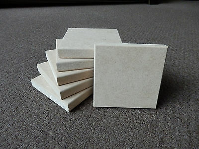 """6 x Freestanding 4"""" x 4"""" x 18mm Thick  MDF Wooden Square Blocks Quality finish"""