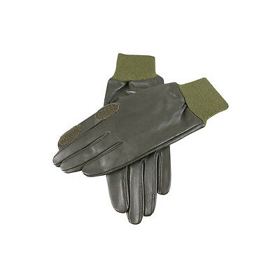 Dents - Malvern Hairsheep Leather Shooting Gloves in Green - RRP £45