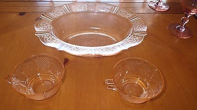 "American Sweetheart Pink Depression Glass Mckee Evans Oval Serving Bowl 11"" 2 cu"