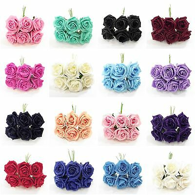 Foam Roses - Princess Colourfast 6 Cm Diameter - Choose Your Colour + Amount -