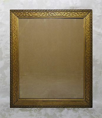 Antique 19th Century Fine Ornate Gold Gilt Gesso Picture Frame Fits 16 x 20