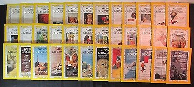 Lot of 36 National Geographic Magazine Set (1960, 1961, 1963) ALL COMPLETE YEARS