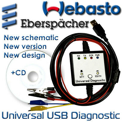 USB Webasto Eberspacher Professional Diagnostic Adapter Cable Interface Edith