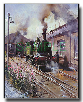 Southern Region Drummond M7 tank engine loco framed picture Cuneo