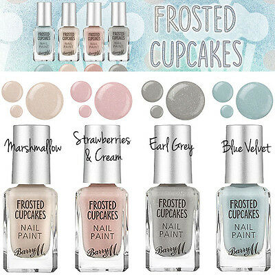 Barry M - Frosted Cupcakes Nail Paint 4 Pastel Tones Colours - Choose Your Shade