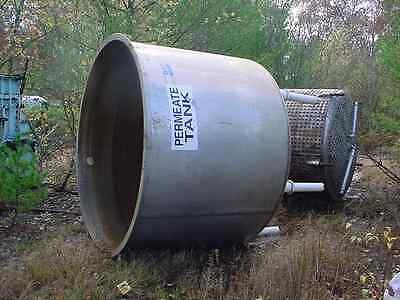 1500 gallon STAINLESS STEEL TANK dished bottom open top