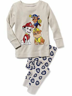 NWT Old Navy Pajamas PJ's Sleep Set Paw Patrol Chase Rubbles Marshall