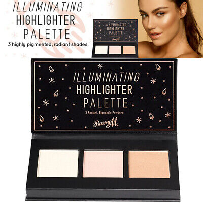 Barry M - Illuminating Highlighter Palette Iced Pink Frosty Cream Gilded Bronze