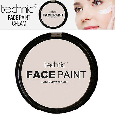 Technic White Foundation Cream Face Paint Halloween Goth MakeUP