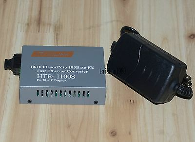 Fast Ethernet Fiber Optic Media Transceiver Single-Mode HTB-1100S 25 KM 10/100Mb
