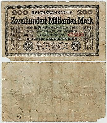 Allemagne, 200 Milliards Mark 1923