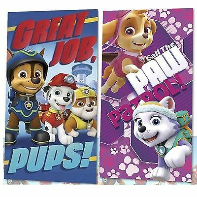 Kids Boys Girls Official Paw Patrol Character Cotton Bath Beach Towel Swim Sun