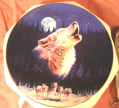 """NEVER BEEN DISPLAYED!! 1995 """"Midnight Call - Plate #3074B - Bradford Exchange"""