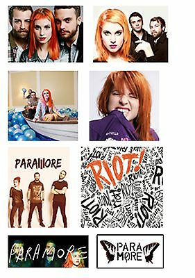 Paramore Set Of 8 Flat Flexible Fridge Magnets Birthday Hayley Williams New Gift